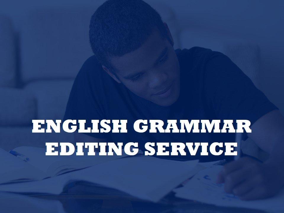 We edit grammar