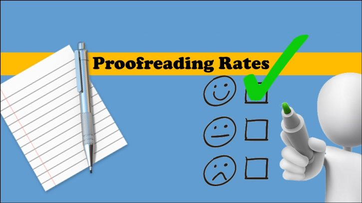 Proofreading rates