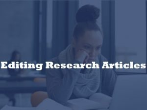 editor of research manuscripts
