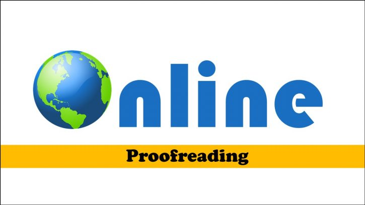What is online proofreading