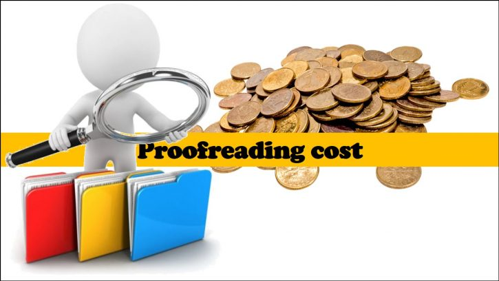 proofreading cost
