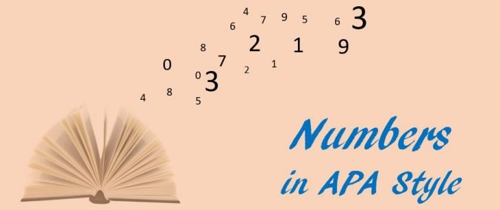 Numbers in APA style
