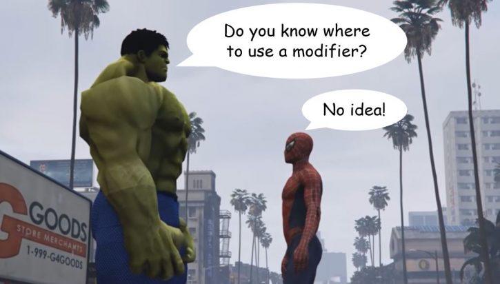 Where to use a modifier