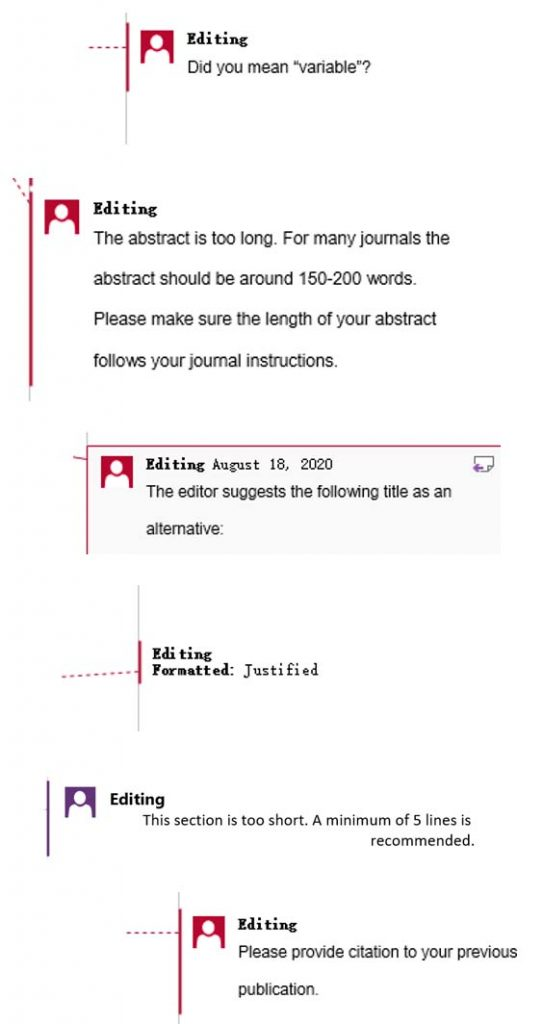 Academic copyediting services for journal papers
