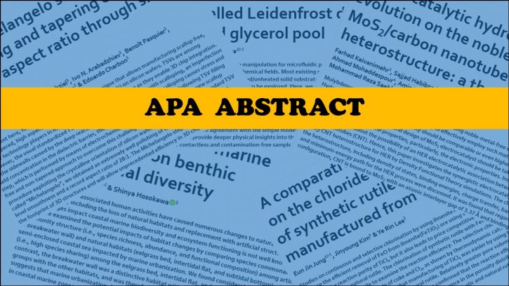 ABSTRACT IN APA FORMAT