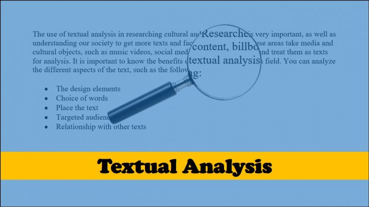 What is textual analysis?