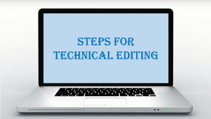 Steps for technical editing