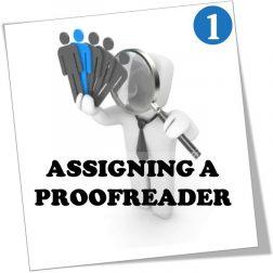 assigning a proofreader online