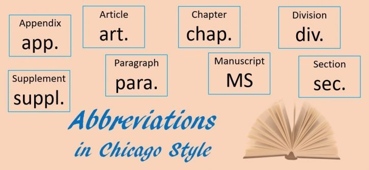 Abbreviations in Chicago Style