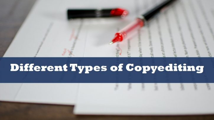 Different types of copyediting