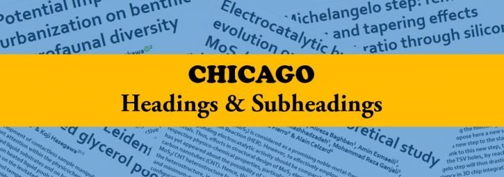 Chicago style of headings and subheadings