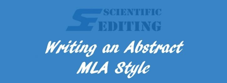 Writing an Abstract in MLA Style