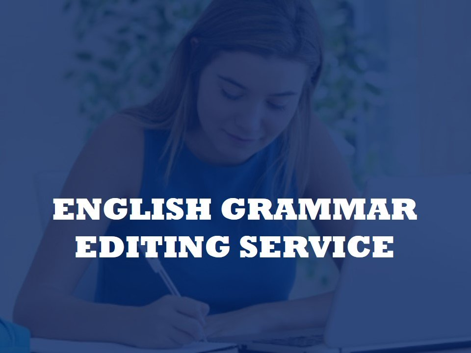 Now offering a revising service for the English grammar