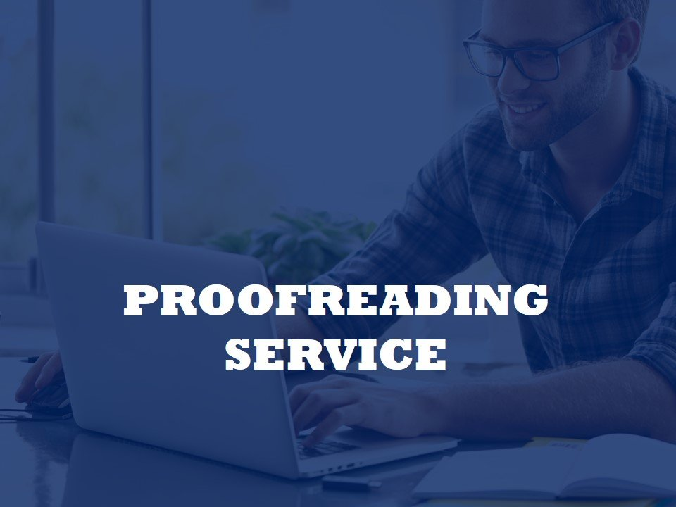 Now offering a proofreading Service