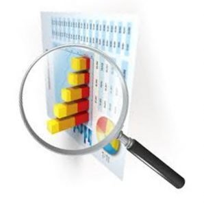 A magnifying glass focused on statistical analysis