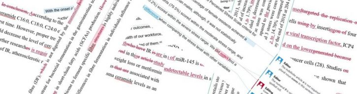 Example of manuscript editing