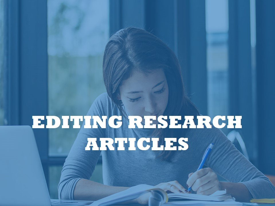 An editing service for journal Articles