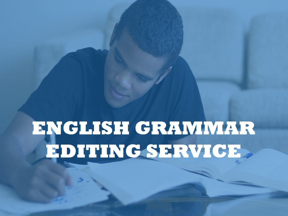 A service for editing the grammar of your essay or paper