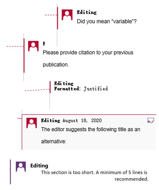 Scientific Comments for Paper Editing and Proofreading