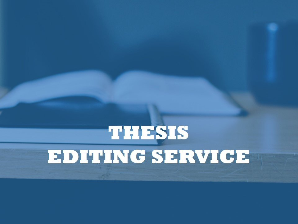 A student service for editing theses