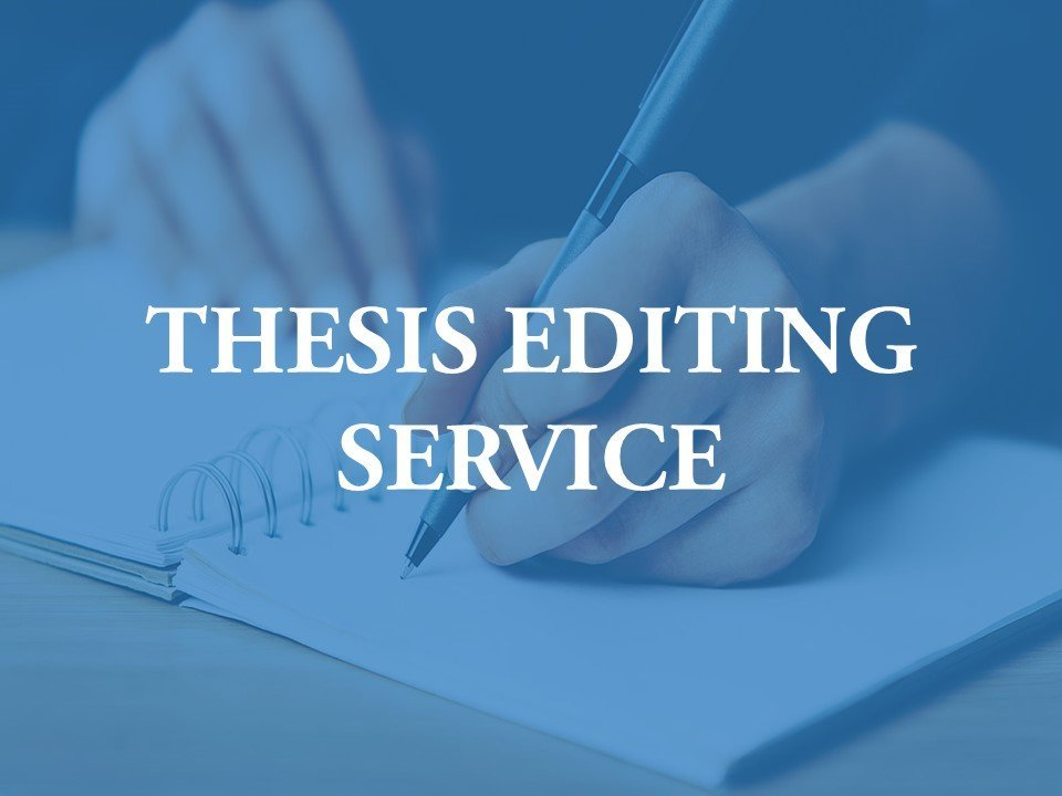 Hiring a thesis editor