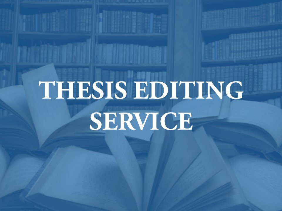Editors for master's and PhD theses