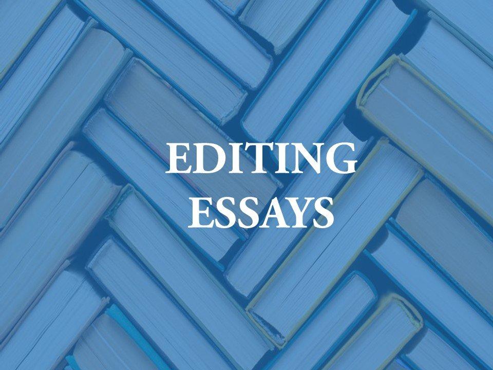 We edit essays