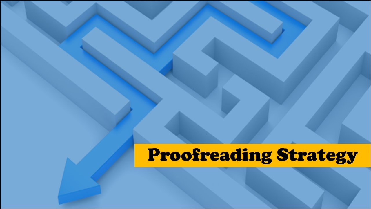Proofreading Strategy
