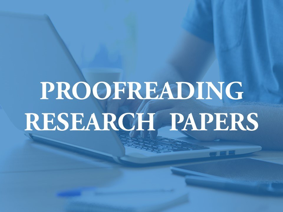 helping with proofreading research journal papers