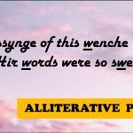 What Is Alliterative poetry