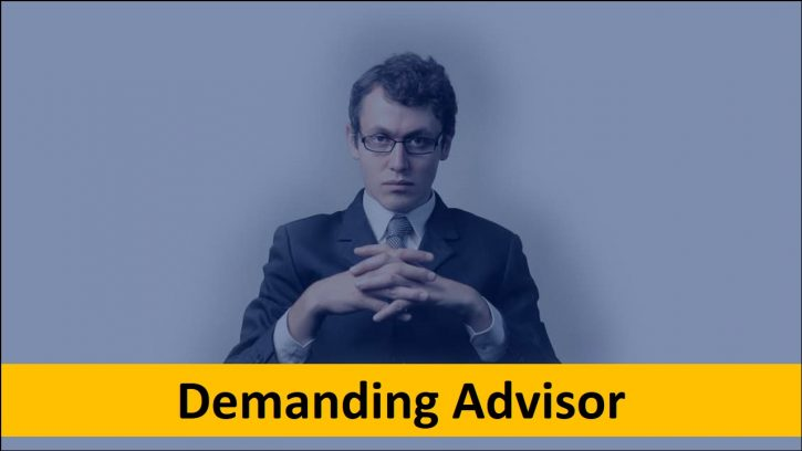 Dealing with a demanding phd advisor