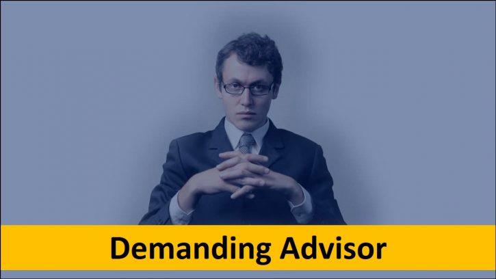 Dealing with a demanding phd advisor