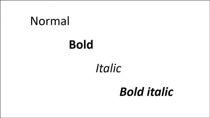 Using Italic Font in Writing