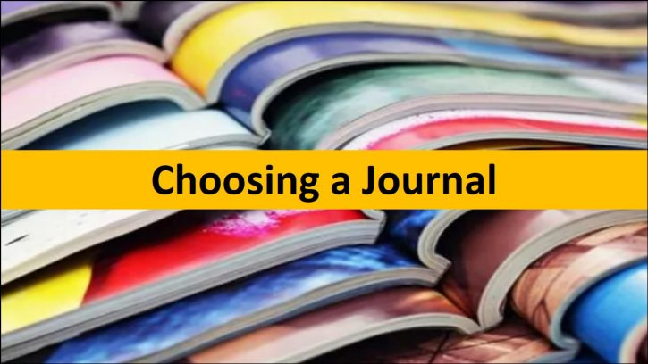 Choosing a journal