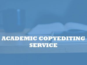 academic copyediting service