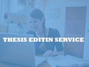 Master's thesis editing