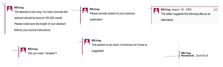 Scientific research paper editing