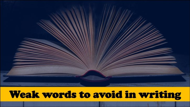 Avoiding weak words