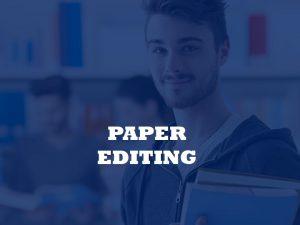 paper editing