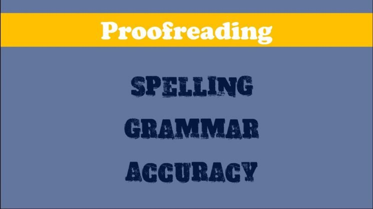 proofreading methods