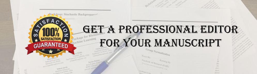Professional manuscript editor