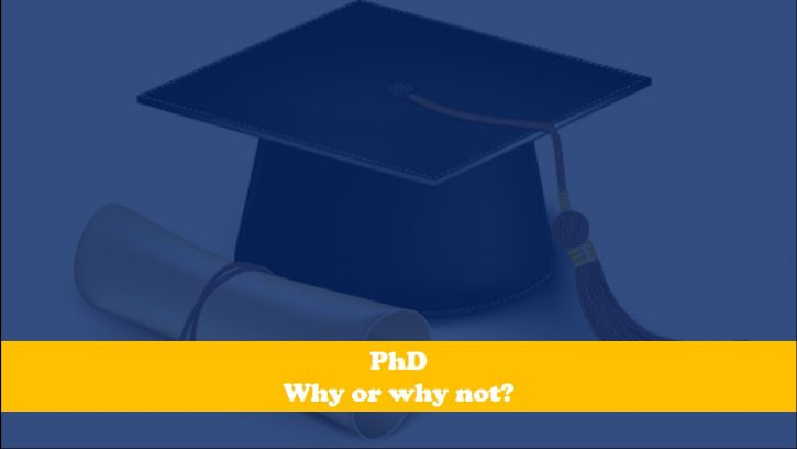 To do a PhD