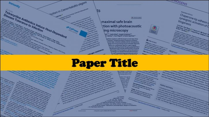 Choosing the title of your paper