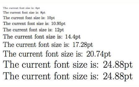 Font size in manuscript writing