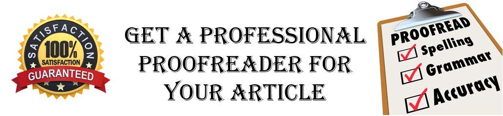 Get a professional proofreader