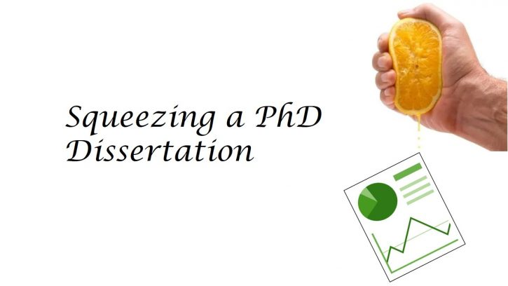 Do not squeez you PhD dissertation into a research paper
