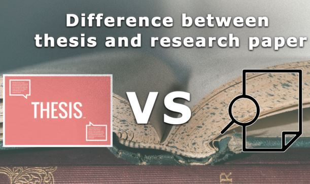 Thesis versus a research paper