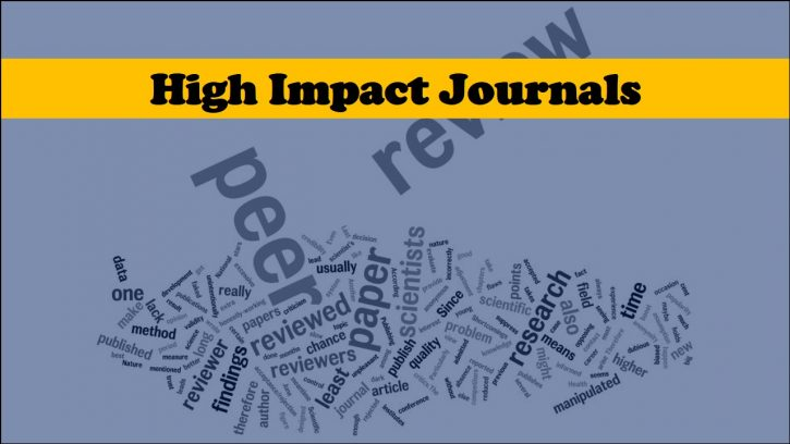 Publishing in a high impact journal