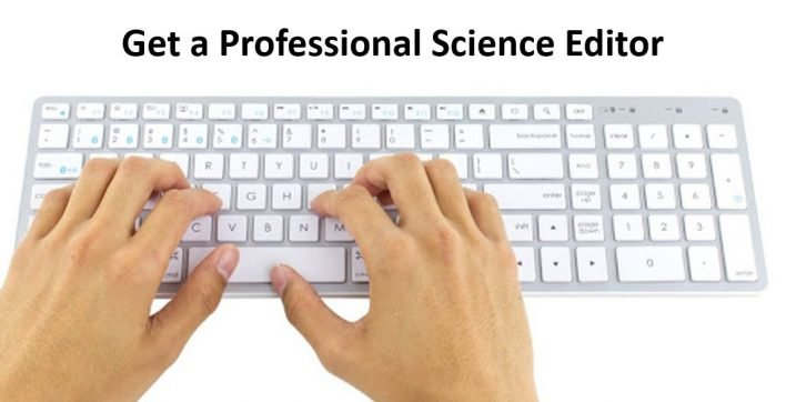 science editor typing