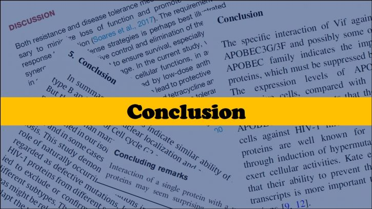 Writing a strong conclusion for a research paper